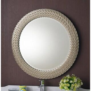 Silvertone Round Link Wall Mirror