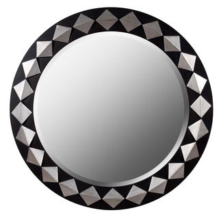 Diamond Framed Round Wall Mirror
