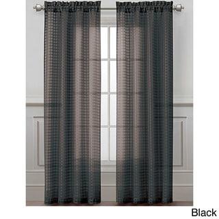 Drake Grid Sheer Curtain Panel