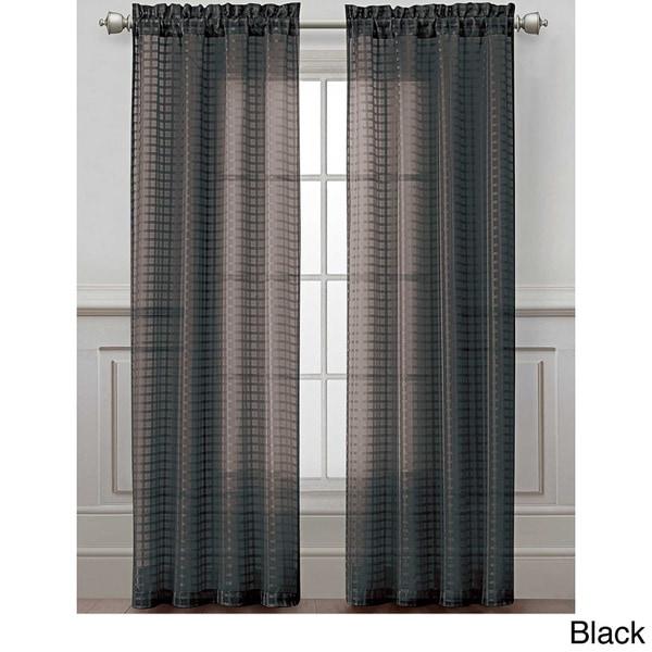 VCNY Drake Grid Sheer Curtain Panel