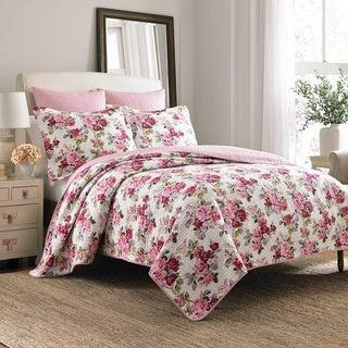 Laura Ashley Lidia 100-percent Cotton 3-piece Reversible Quilt Set