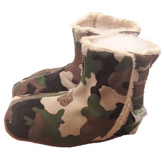Camouflage Soft Sole Leather Baby Boots