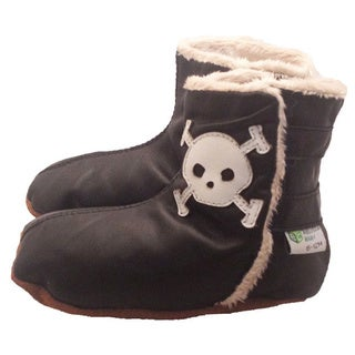 Skull Soft Sole Leather Baby Boots