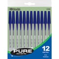 Bazic 12-pack Pure Blue Stick Pen (Case of 24)
