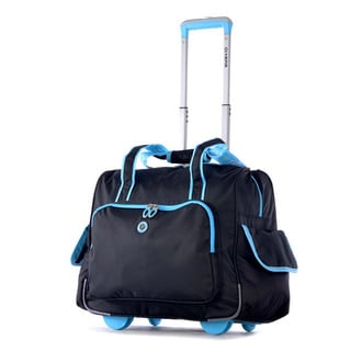 Olympia Deluxe Fashion Rolling Overnighter Carry-on