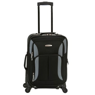 Rockland Light 20-inch Expandable Carry-on Spinner Upright Luggage