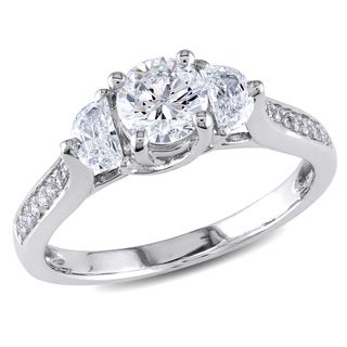 Miadora 14k White Gold 1ct TDW Diamond Ring (G-H, I1-I2)