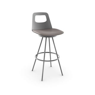 Ovo 26-inch Grey Swivel Stool
