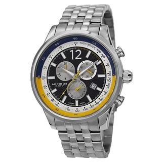 Akribos XXIV Men's Chronograph Tachymeter Stainless Steel Bracelet Watch