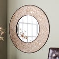 Upton Home Victoria Antiqued Silver Wall Mount Mirror