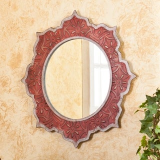 Upton Home Tangier Dreams Red/ Silver Mirror