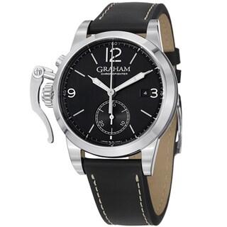 Graham Men's 2CXAS.B02A 'Chronofighter' Black Dial Black Strap Automatic Watch