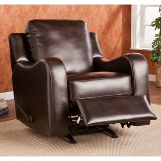 Upton Home Monticello Chocolate Rocker Recliner