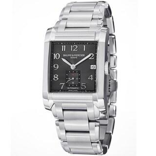 Baume & Mercier Men's MOA10048 'Hampton' Grey Dial Stainless Steel Watch