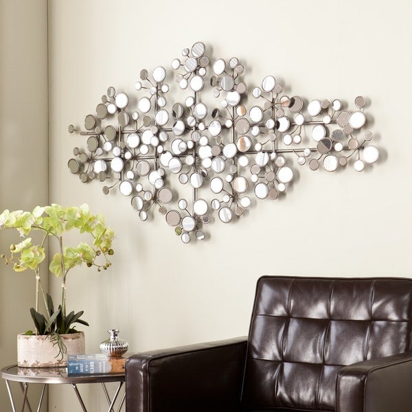 Mirrored Metal Wall Sculpture Mirror Mirrors Living Room