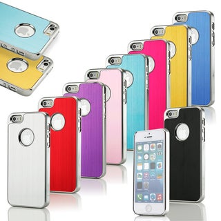 Gearonic Aluminum Brushed Metal Hard Back Case for Apple iPhone 5 5S