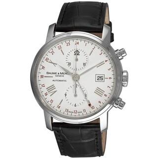 Baume & Mercier Men's MOA8851 'Classima' MOA8851White Dial Black Leather Strap Watch