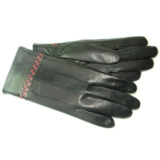Hollywood Tag Women's Black Lambskin Leather Gloves