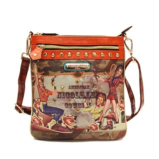 Nicole Lee American Cowgirl Print Messenger Bag