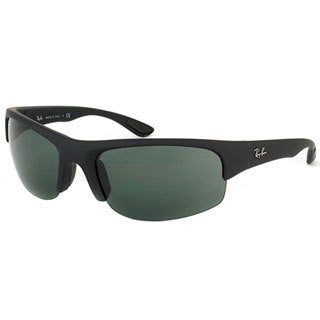 Ray Ban Unisex 'RB4173 Sport 622/71' Matte Black Polarized Interchangable Sunglasses
