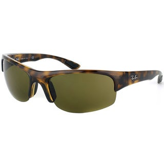 Ray Ban Unisex 'RB4173 Sport 710/73' Shiny Havana Polarized Interchangable Sunglasses
