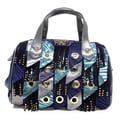 Nicole Lee 'Danielle' Blue Fringe Panel Boston Bag
