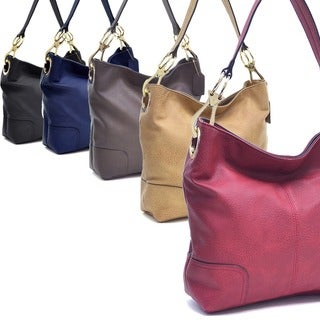 Dasein Patched Corner Hobo Handbag