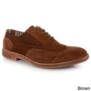 Men's 'Vinci' Canvas and Suede Wing-tip Oxford Shoes