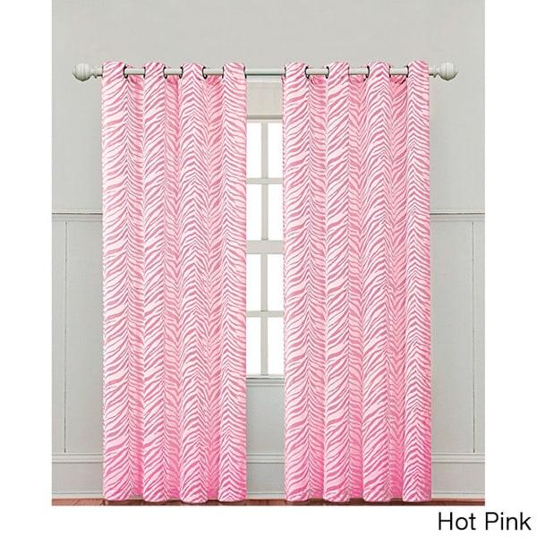 Victoria Classics Zebra Print 84-inch Curtain Panel
