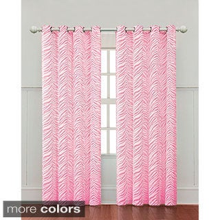 Zebra Print 84-inch Curtain Panel