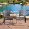 Christopher Knight Home Sunset Grey Outdoor Wicker Chair