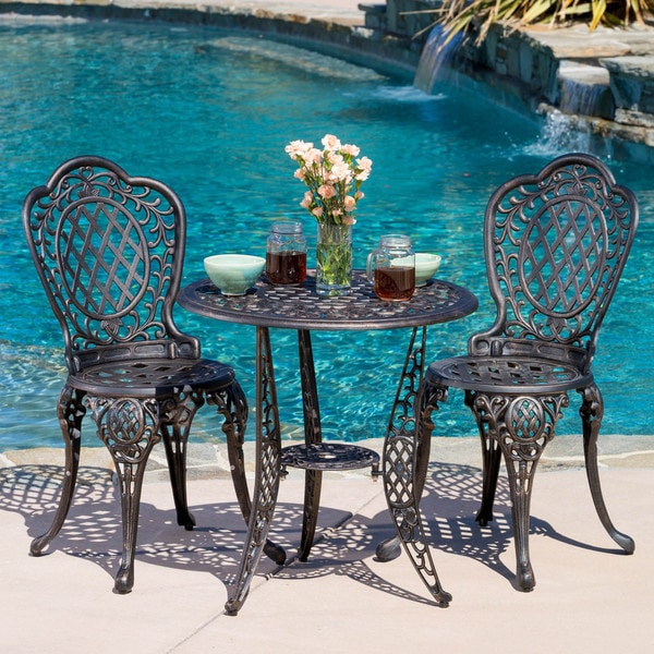 Outdoor Patio Set 3 Piece Bistro Furniture Dining Pool Garden Table Chairs NEW EBay