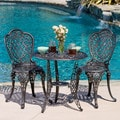 Christopher Knight Home Cole 3pc Bronze Cast Aluminum Outdoor Bistro Set