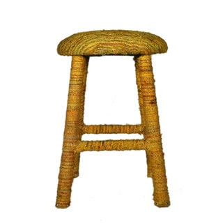 nuLOOM Handmade Bombay Yellow Sari Silk Bar Stool