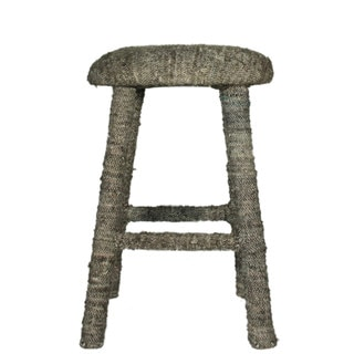 nuLOOM Handmade Bombay Grey Sari Silk Bar Stool