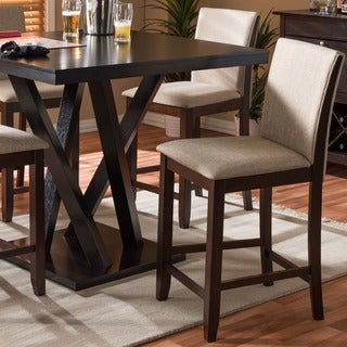 Everdon Dark Brown Modern Pub Chair (Set of 2)