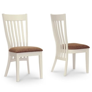 Shippen White and Brown Modern Dining Chair (Set of 2)