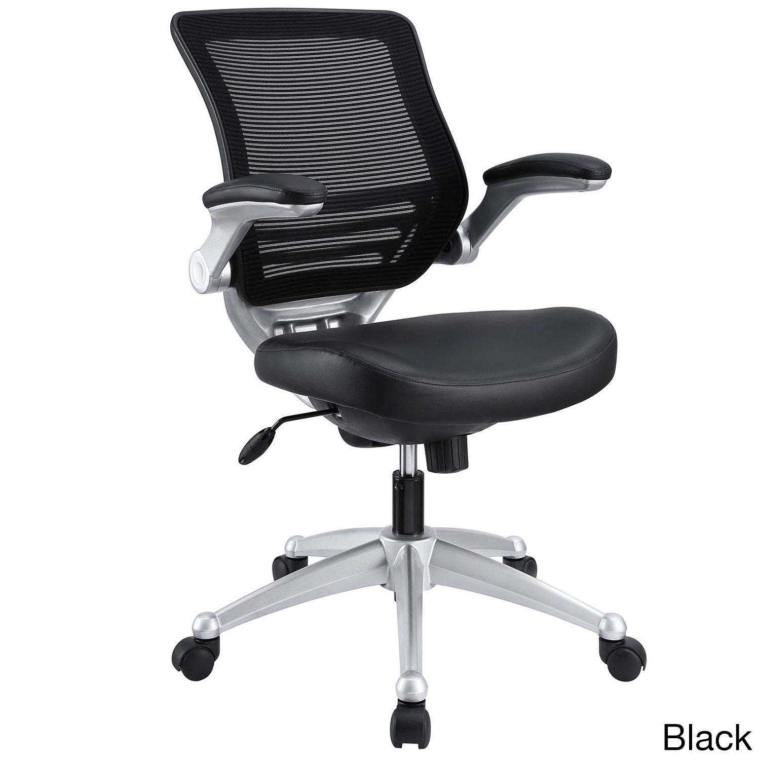 edge office chair w mesh back black leather seat edge mesh leather