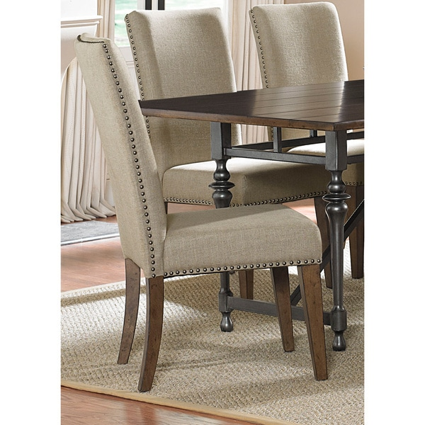 Ivy Park Beige Linen Upholstered Side Chair (Set of 2)