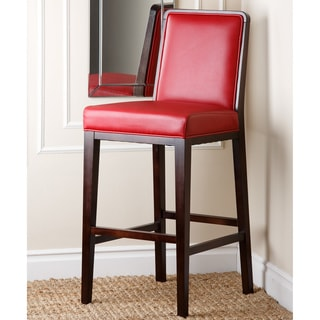 Jersey Red Bonded Leather Bar Stool