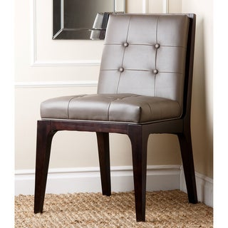 Arlington Grey Bonded Leather Dining Chair
