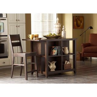 Attic Retreat Weathered Brown Kitchen Island
