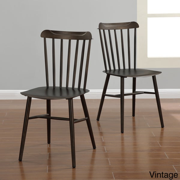 industrial metal windsor chairs set of 2 15994714