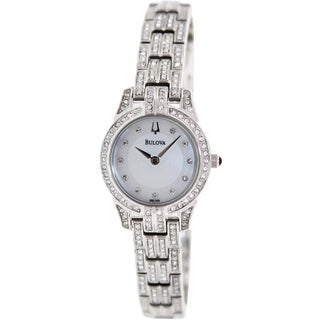 Bulova Women's Stainless Steel Quartz Mother-of-Pearl Dial Watch