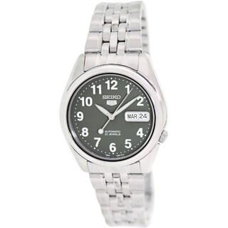 Seiko Men's SNK379K1 Automatic Green Dial Stainless Steel Quartz Watch