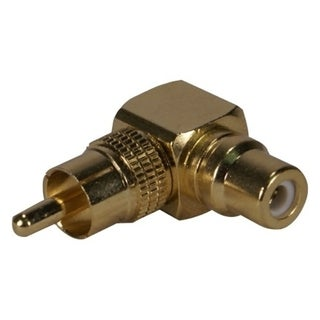 QVS RCA Male to Female 90 Degree Adaptor