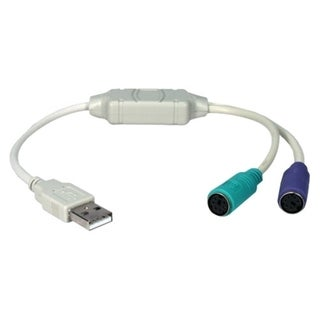 QVS USB to PS/2 for Keyboard and Mouse Adaptor Cable
