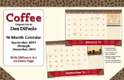 Coffee September 2014 through December 2015 Calendar (Calendar)