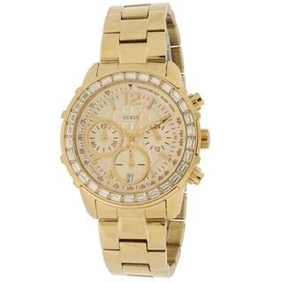 Guess Women's W0016L2 Gold Chronograph Sports Watch