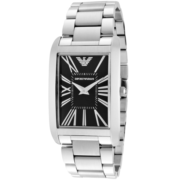 Armani Men's Super Slim AR2053 Automatic Silver Watch